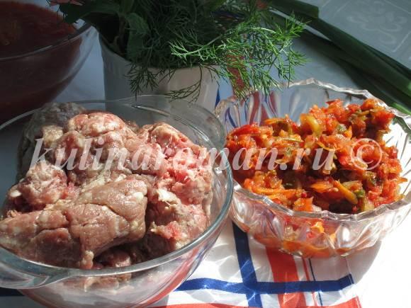 болгарский перец с рубленым мясом