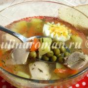 как приготовить суп с зеленым горошком