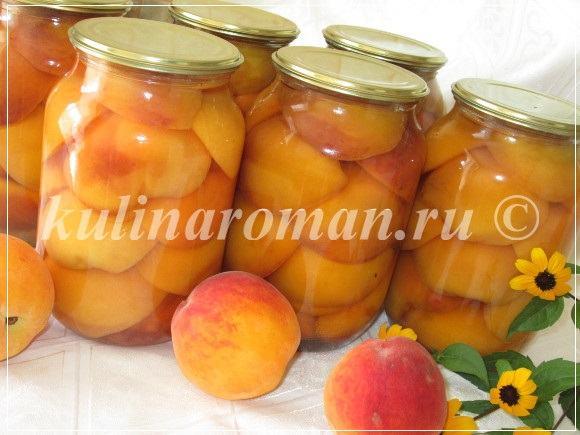 пошаговый рецепт консервированных персиков