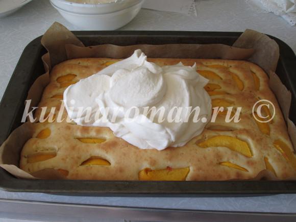 пирог со сметаной заливкой