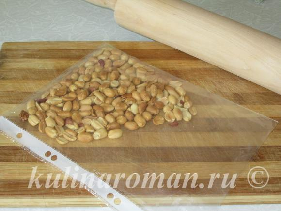измельчаем арахис для торта