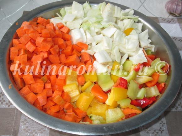 салат с овощами на зиму
