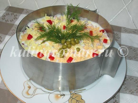 Салат оливье слоями рецепт