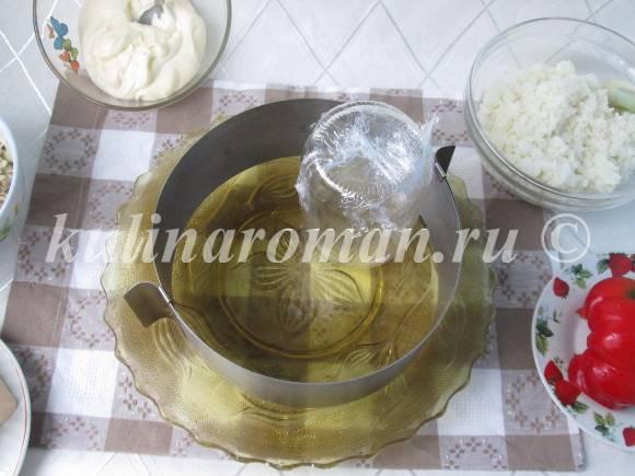 слоеный новогодний салат