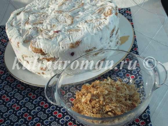 быстрый торт наполеон с заварным кремом