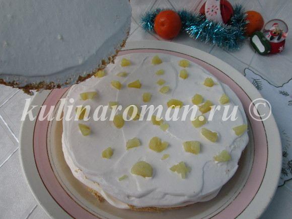 новогодний торт с ананасами