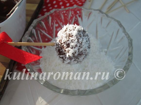 кейк попсы с кокосом