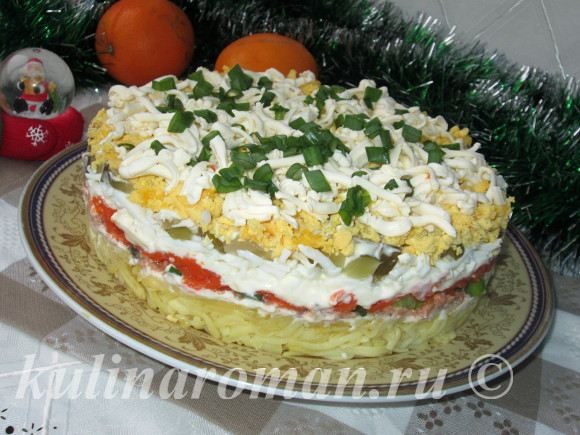 рецепт вкусного слоеного салата