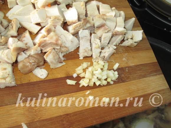 грибной суп с чесноком