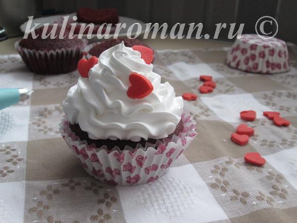 капкейки на Валентинов день