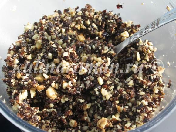 вкусная начинка из чернослива с орехами