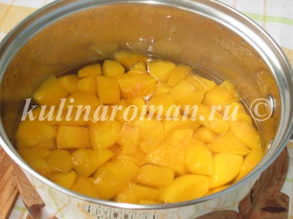 как сварить персиковое пюре