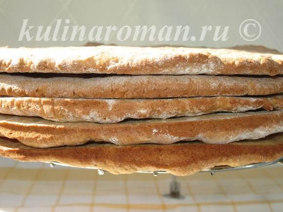 ореховые коржики для торта