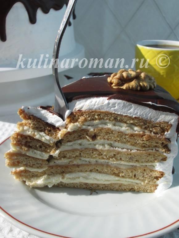 мягкий медовый торт