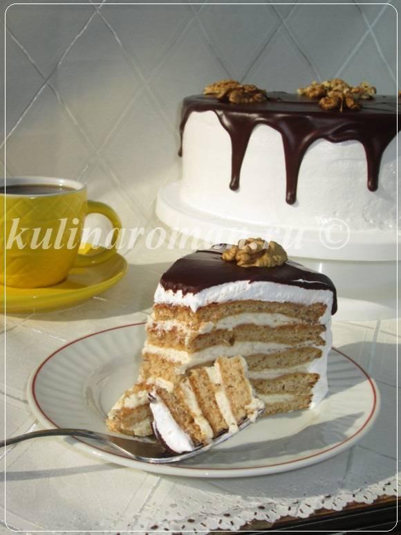 медовый торт с шоколадом