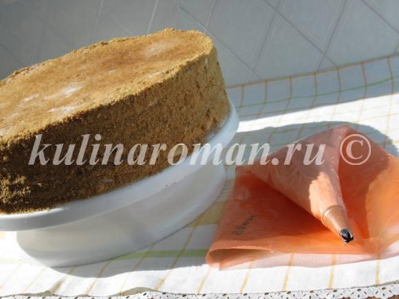 медовый торт с коржами наполеон вкусный