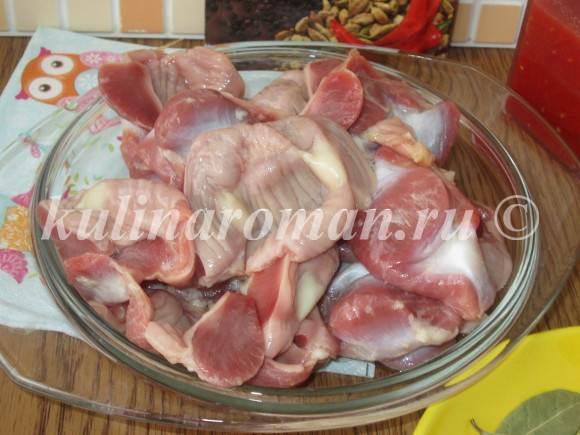 куриные желудки пошаговый рецепт