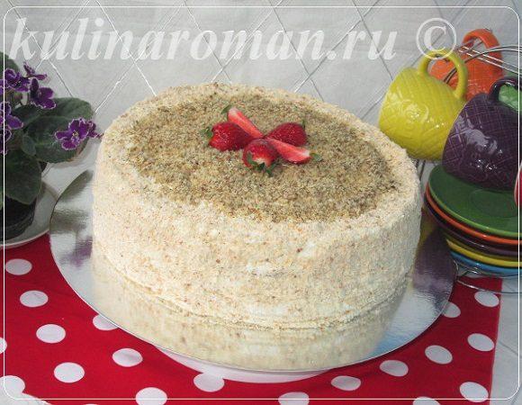 торт сметанник из тонких коржей