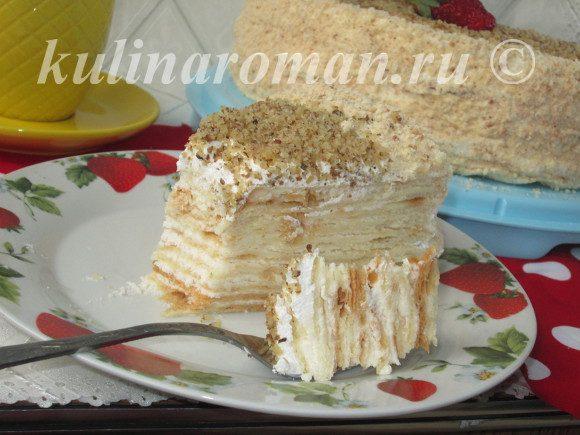 торт из сметанных коржей
