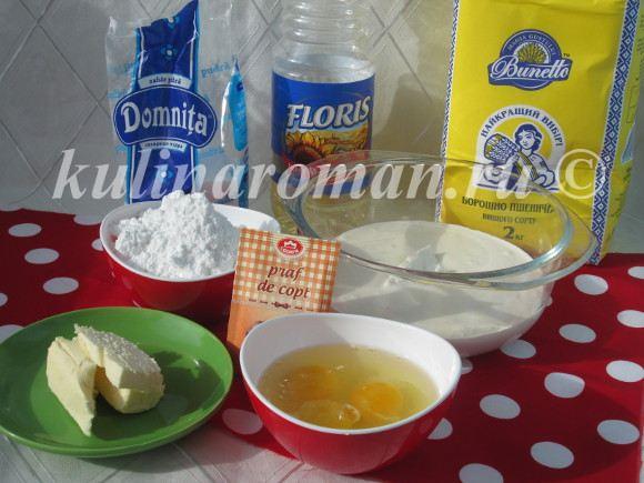 продукты для торта сметанник