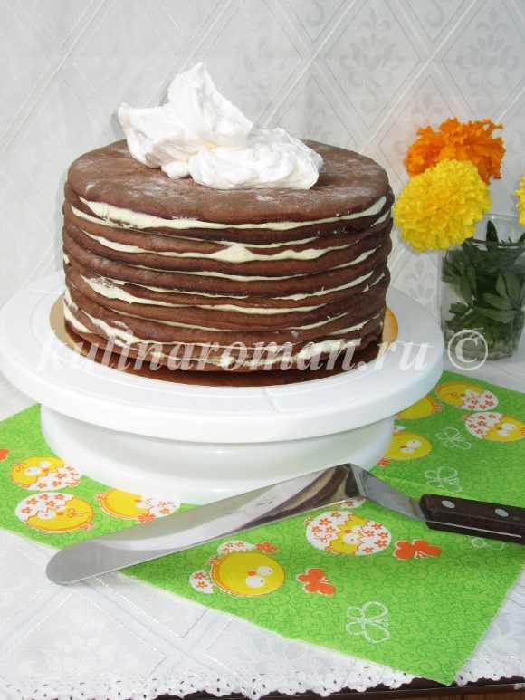 как выравнить торт