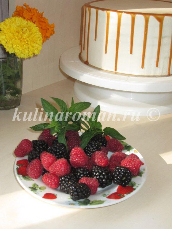 торт спартак с ягодами