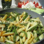 жареная картошка с фасолью