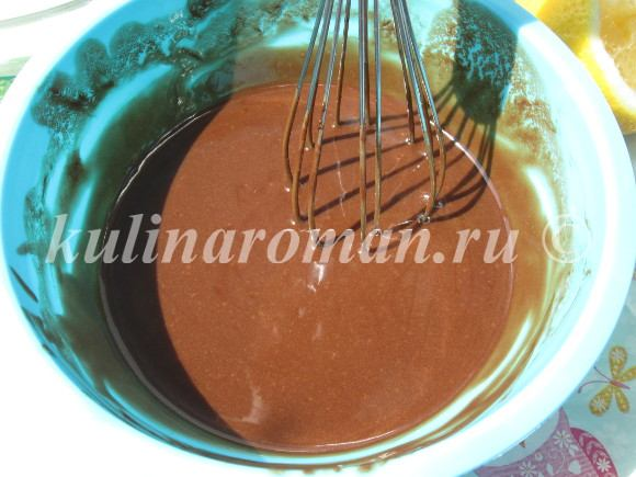 растворяем шоколад