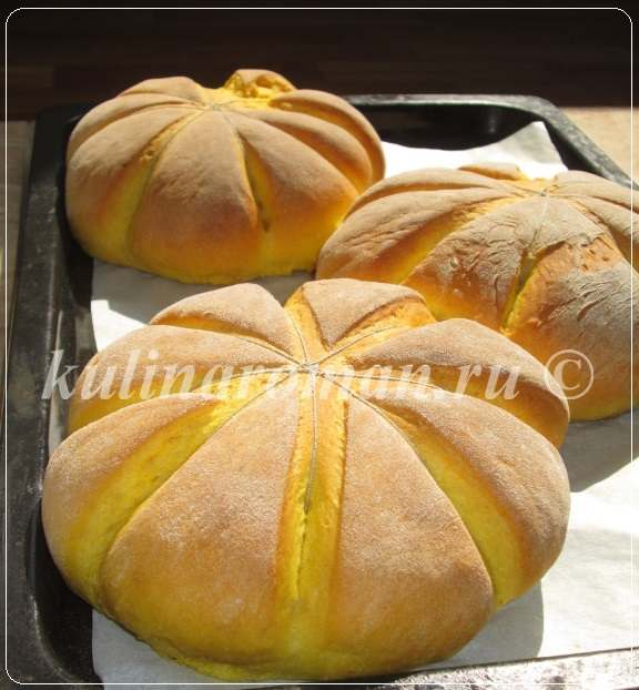 домашний хлеб рецепт с тыквой