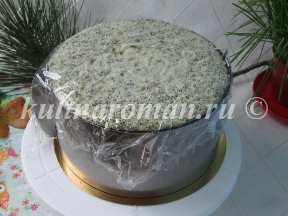 маковый торт с кремом