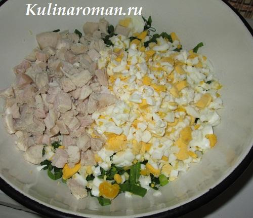 салат из черемши и яиц