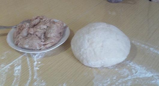Тесто и начинка для пельменей