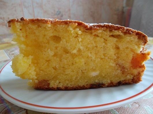 Творожный десерт - кекс с лимонной цедрой