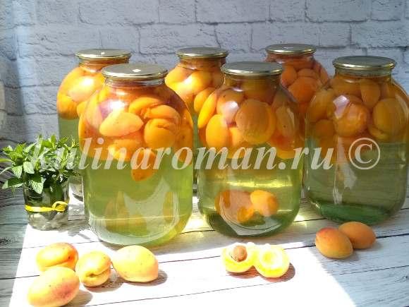 как заготовить компот на зиму из абрикосов