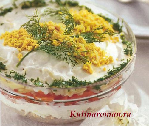 салат мимоза с горбушей рецепт с фото