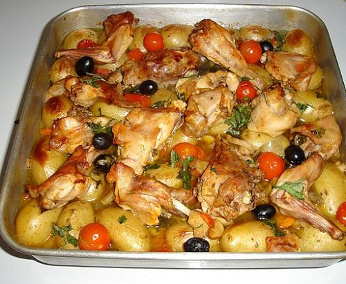 как приготовить кролика в духовке вкусно с овощами