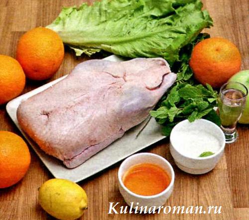Утка апельсинами в духовке