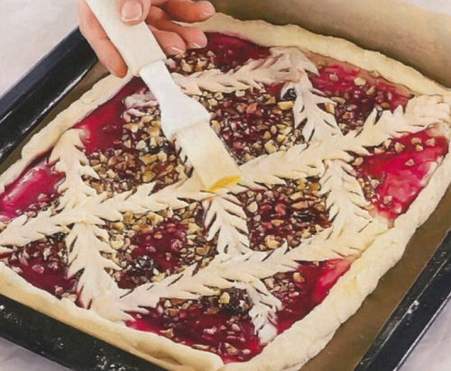 рецепт пирога с вареньем и орехами