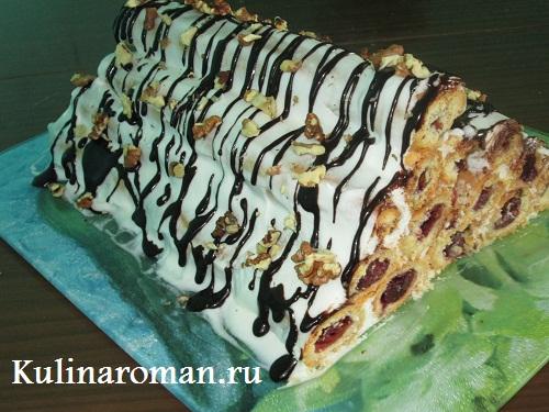торт монастырская изба с вишней