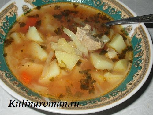 Как сварить суп с фаршем и капустой