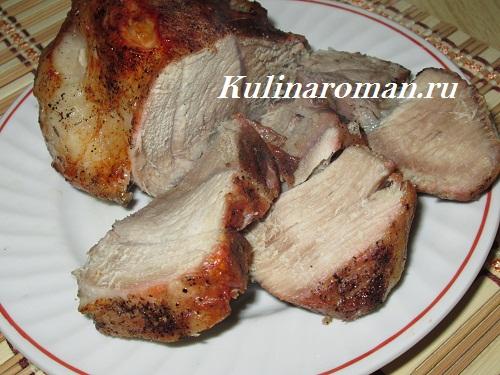 рецепт запеченного куска свинины