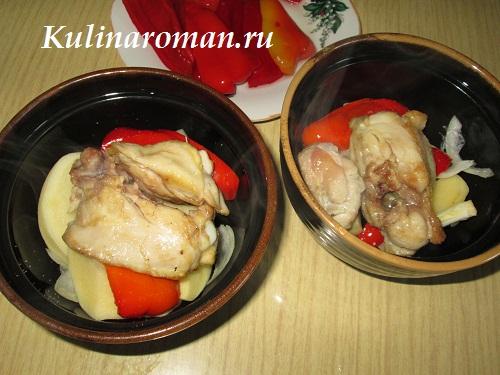 сочная картошка с мясом