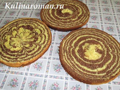 рецепт мраморного бисквита