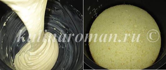 Ванильный бисквит на кипятке в мультиварке - рецепт пошаговый с фото