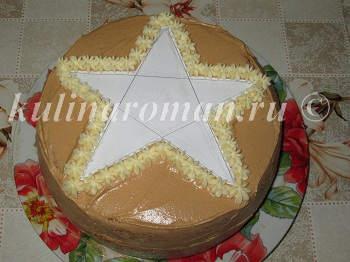 торт звезда