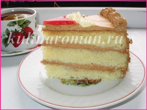 торт на кипятке пошаговый рецепт