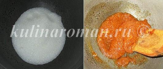 карамельный крем рецепт