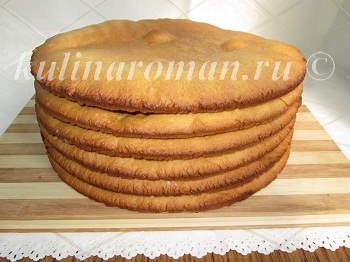 воздушные коржи для медового торта