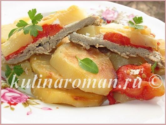 отбивные в духовке с овощами