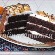 торт из шоколадного кекса